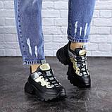 Женские черные кроссовки Button 1745 (36 размер), фото 4