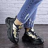Женские черные кроссовки Button 1745 (36 размер), фото 7