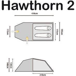 Палатка Highlander Hawthorn 2 Olive, фото 2