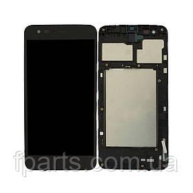 Дисплей для LG K4 2017 (M160) с тачскрином, в рамке, Black