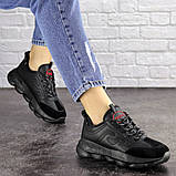 Женские черные кроссовки Huffer 1663 (38 размер), фото 3