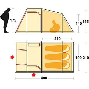 Палатка Ferrino Meteora 3 Brick Red, фото 2
