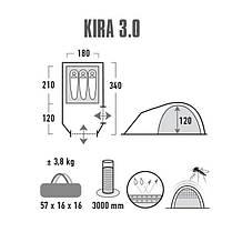 Палатка High Peak Kira 3.0 (Nimbus Grey), фото 2