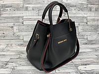 Женская сумка мини - шоппер Michael Kors (в стиле Майкл Корс) с косметичкой (черный), фото 1