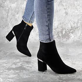 Женские ботильоны на каблуке Dolly черные 1338 (36 размер)