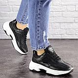 Женские черные кроссовки Noble 1672 (37 размер), фото 2
