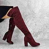 Женские ботфорты Caitlyn бордовые на каблуке 1442 (36 размер), фото 3