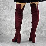 Женские ботфорты Caitlyn бордовые на каблуке 1442 (36 размер), фото 5