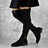 Женские ботфорты Dave черные 1348 (36 размер), фото 3