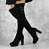 Женские ботфорты Katrina черные 1414 (38 размер), фото 6