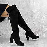 Женские ботфорты Noel черные на каблуке 1445 (37 размер), фото 2