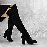 Женские ботфорты Noel черные на каблуке 1445 (37 размер), фото 3