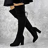 Женские ботфорты Noel черные на каблуке 1445 (37 размер), фото 5