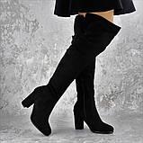 Женские ботфорты Noel черные на каблуке 1445 (37 размер), фото 6