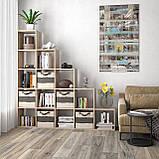 Стеллаж лесенка, полка для книг и игрушек, разделитель комнаты на 15 ячеек, книжный шкаф S-17, фото 2