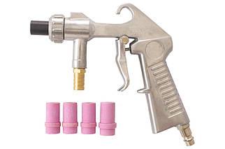 Пневмопистолет пескоструйный Mastertool - 4,5 x 5 x 6 x 7 мм + 6 мм (81-8709), (Оригинал)