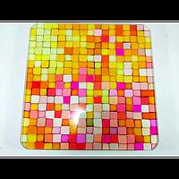 Электронные напольные весы Domotec MS-2019 до 180 кг с ЖК дисплеем Разноцветные квадратики
