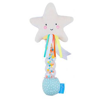 Детская мягкая погремушка для новорожденного ребенка Звездочка Taf Toys (12645)