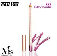 Miss Tais 792 Помада-блеск и карандаш для губ 2-в-1