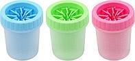 Стакан для мытья лап, лапомойка для собак Soft pet foot cleaner MEDIUM (микс цветов)