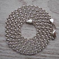 Срібний ланцюжок, 500мм, 9 грам, плетіння Бісмарк, світле срібло, фото 2