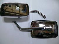 Зеркала квадратные МТ, ИЖ Хром, ножка 10мм