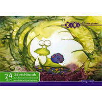 Акция. Альбом для малювання, А4, 24 аркуша, 100 г/м2, на скобі Киев. также Подарок