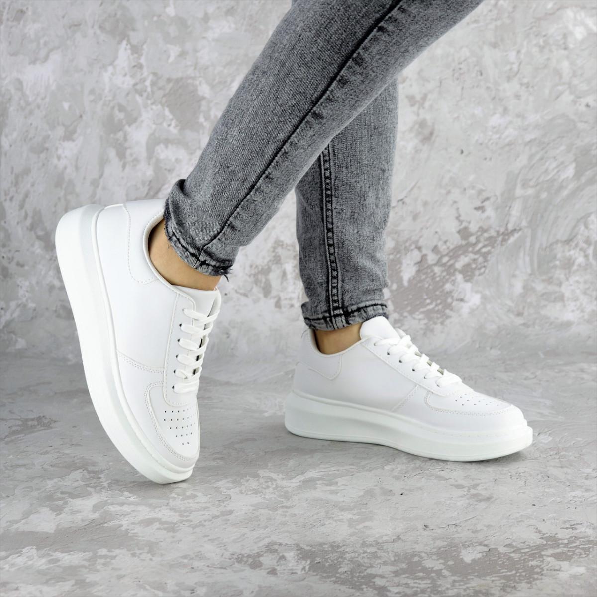 Кроссовки женские белые Modlaun 2372 (36 размер)