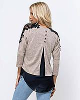 Женский свитер с шифоном