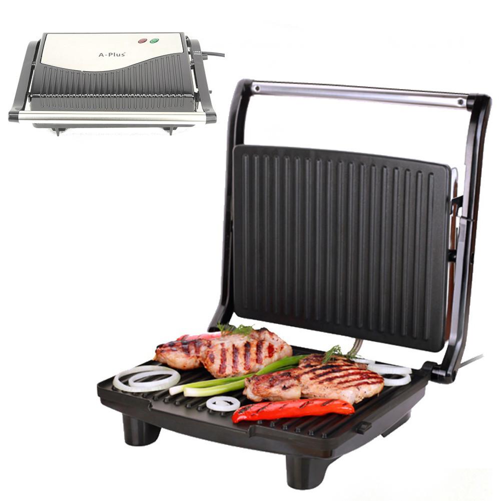 Контактный электрический гриль, тостер для шаурмы, сендвичница 750 Вт, A-plus 2039