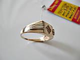 Золотое мужское кольцо ПЕЧАТКА 5.45 гр. 21 размер Золото 585 пробы, фото 7