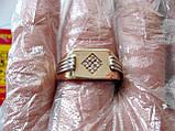 Золотое мужское кольцо ПЕЧАТКА 5.45 гр. 21 размер Золото 585 пробы, фото 6