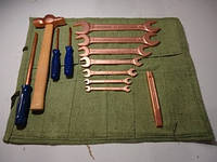 Набор инструмента искробезопасного Авто-1 ОМ (15 ед.) омеднённого