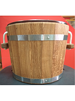 Ведро-запарник Bentwood на 20 литров для бани и сауны с пластиковой вставкой