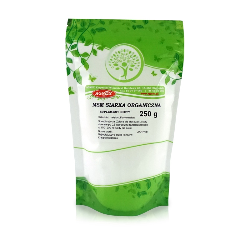 МСМ (MSM) - органічна сірка 250 г, Agnex