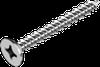 Саморез WS HI-LO для ПВХ, с потайной головкой (d=7.5 мм), крест. шлиц ЦБ