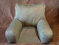 Ортопедическая подушка для чтения с основой. Подушка-кресло. Цветная .Белая. Без наволочки