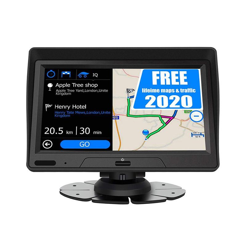 """Автомобильный GPS навигатор 7"""" Lesko 719 DVR на Android с козырьком карта памяти miniUSB"""