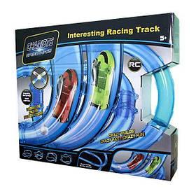 Ігровий набір CHARIOTS SPEED PIPES світяться трубопровідні гонки 52 деталі Блакитний КОД: hub_gopJ77872