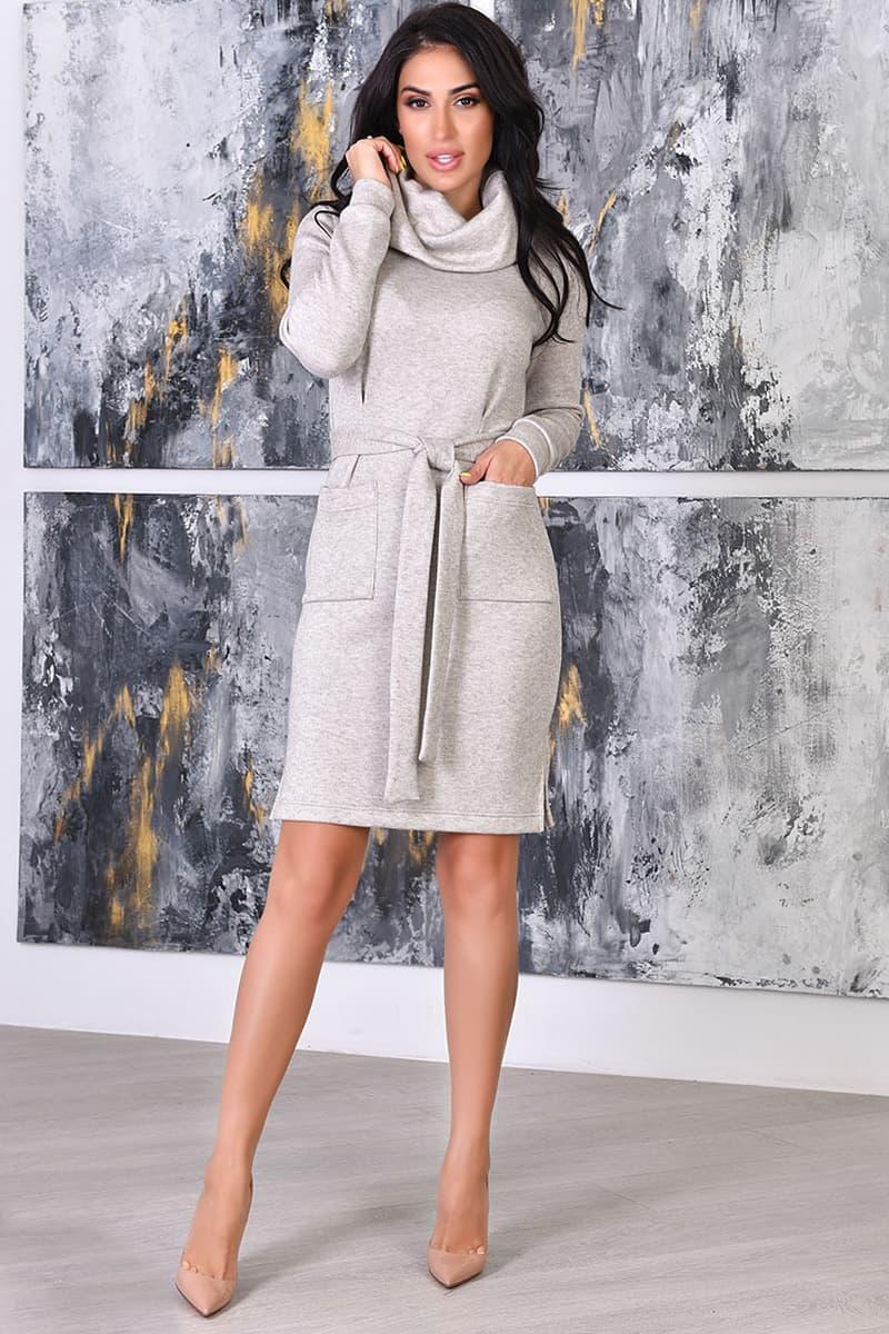 Светлое теплое платье Лаки