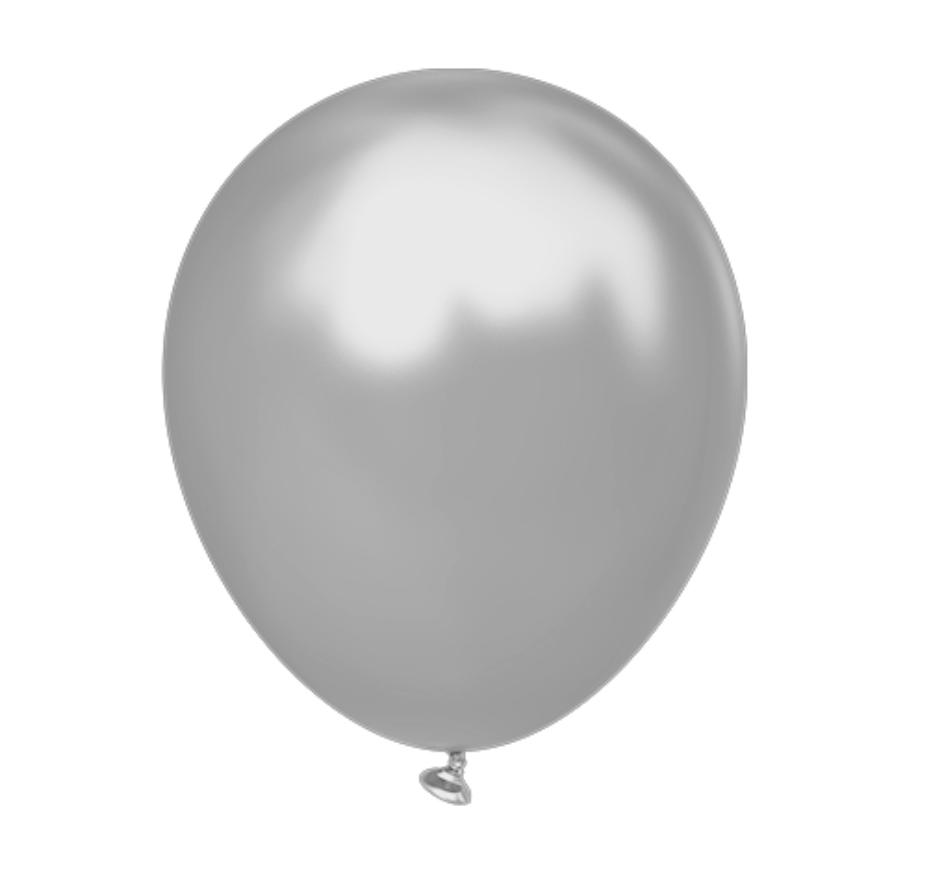 Воздушные латексные шары металлик Серебро.пр-во Kalisan(Турция) 12'(30 см.) Упаковка 100 шт.
