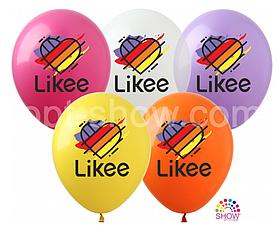 """Латексные шары с рисунком """"Like"""" 12'' (100 ШТ) ТМ SHOW (30 СМ)"""