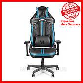 Компьютерное кресло Barsky CYB-02 VR Cyberpunk Blue, геймерское кресло