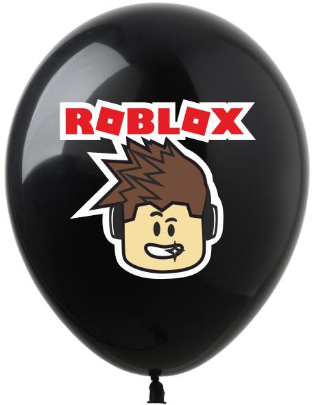 """1354 Куля 12"""" (30 см) Roblox / Роблокс персонаж на чорному (Kalisan)"""