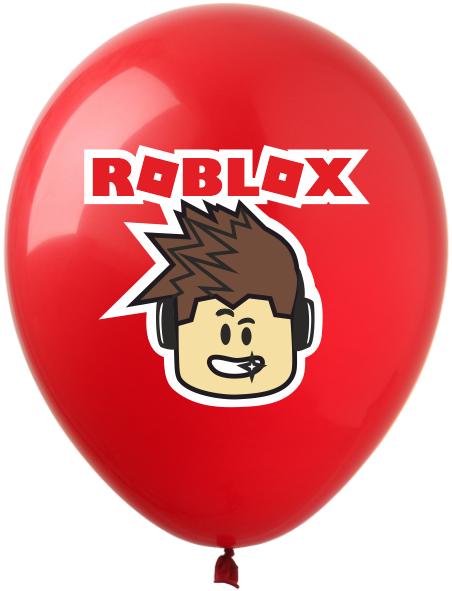 """1352 Куля 12"""" (30 см) Roblox / Роблокс персонаж на червоному (Kalisan)"""