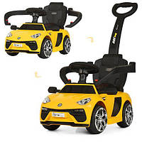 Детский электромобиль каталка толокар Bambi M 3591 L-6 Lamborghini, желтый, фото 1