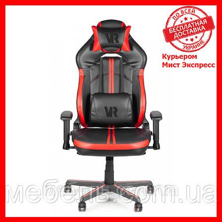 Геймерское компьютерное детское кресло Barsky VR Cyberpunk Red CYB-03, фото 2