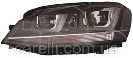 Фара левая электро D3S+Н7+LED (тип EUR) для VW GOLF VII 2013-17