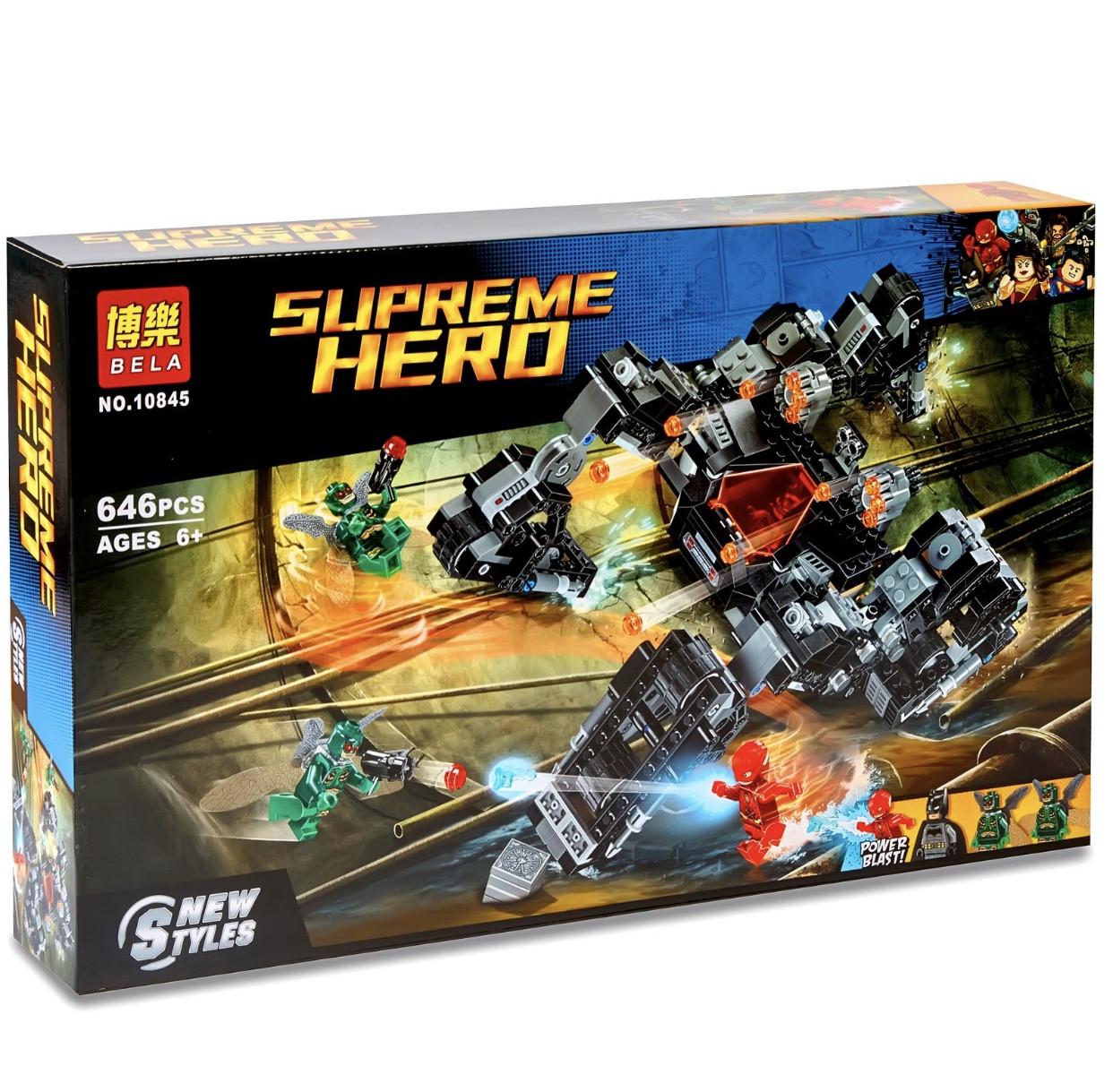 Пластиковий конструктор блоковий для хлопчиків GTM Supreme Heroes 646 деталей