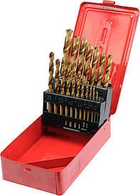Набор  сверл по металлу  19 шт STHOR HSS-TIN 1-10 мм